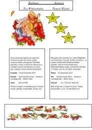 Einladung Invitación Z ur W eihnachtsfeier Fiesta de N avidad