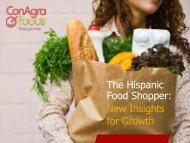 The Hispanic Food Shopper: New Insights for Growth