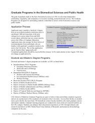 Graduate Programs in the Biomedical Sciences and Public Health