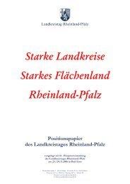 Starke Landkreise Starkes Flächenland Rheinland-Pfalz