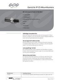 GanzLite IP-CS-Mountkamera - CBC CCTV