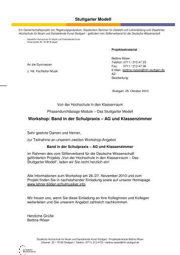 """Einladungsbrief mail - """"Lehrer bilden"""" - Phasendurchlässige Module ..."""
