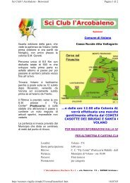 4^ Corsa sul Finonchio - Pagina iniziale