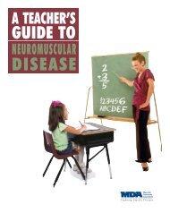 A Teacher's Guide to Neuromuscular Disease - MDA
