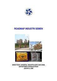 peta panduan pengembangan klaster industri semen - Direktorat ...