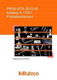 PRISLISTA MITUTOYO 2012-06-01.xlsx