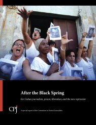 After the Black Spring - Committee to Protect Journalists