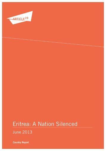 Eritrea: A Nation Silenced - Article 19
