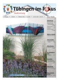 Ausgabe 07. Februar 2014 - Tübingen im Fokus