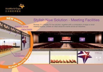 Stylish New Solution - Meeting Facilities - AsiaWorld-Expo