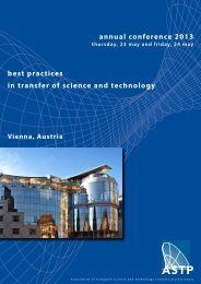 annual conference 2013 best practices in transfer of science and ...