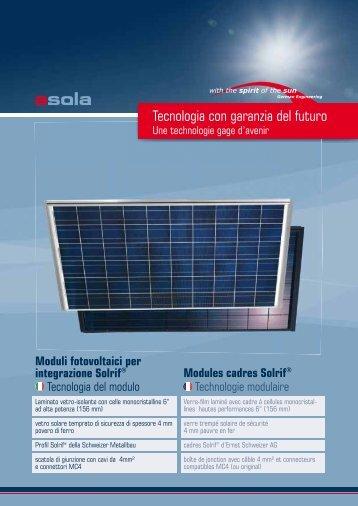 Tecnologia con garanzia del futuro - Solstis