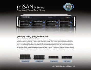 Download miSAN® V Series Specifications - Layer 3 Technologies