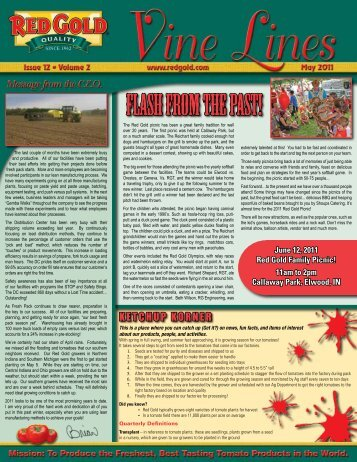 May 2011 Vine Lines Newsletter - Red Gold