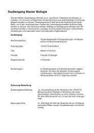 Studiengang Master Biologie - Biostudium.uni-wuerzburg.de