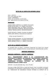 acta de la junta de govern local acta de la sessió anterior. serveis ...