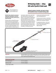 MI Heating Cable - Pentair Thermal Controls