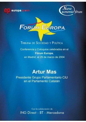 Artur Mas - Nueva Economía Fórum