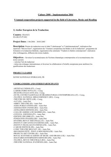 1)Atelier Européen de la Traduction - Europa