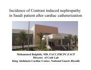 Incidence of Contrast induced nephropathy in Saudi patient after ...