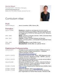 Cv fr - Centre Marc Bloch