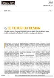 Beaux Arts Magazine - Designer's Days