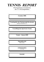 Tennis – Saison 2008 - TV 1888 Königstädten eV