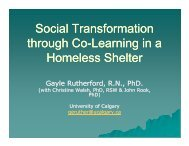 Social Transformation through Co-Learning in a ... - Education