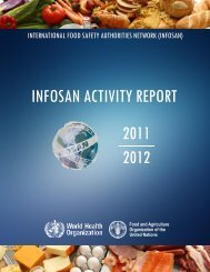2011 2012 INFOSAN ACTIVITY REPORT - Extranet Systems - World ...