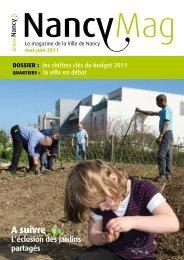 NancyMag mai-juin 2011 - Ville de Nancy