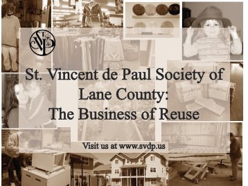 SVDP presentation 1-26-12 - Reuse Alliance