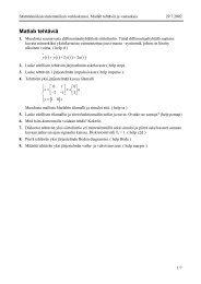 Matlab-tehtävät PDF-muodossa