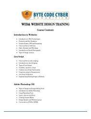 web& website design training - BYTE CODE CYBER SECURITIES ...