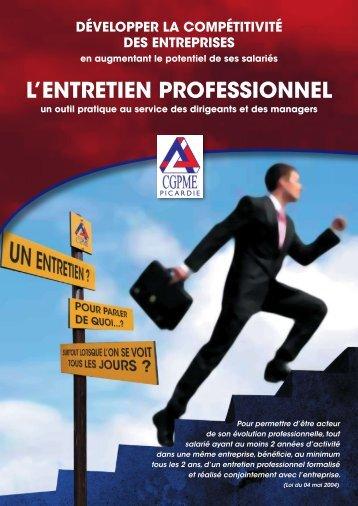 Les etApes de L'entretien professionneL - CGPME Picardie