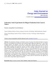 Laboratory scale experiments for biogas production using cassava ...