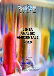 LINEA ANALISI AMBIENTALE 2010 - Lickson