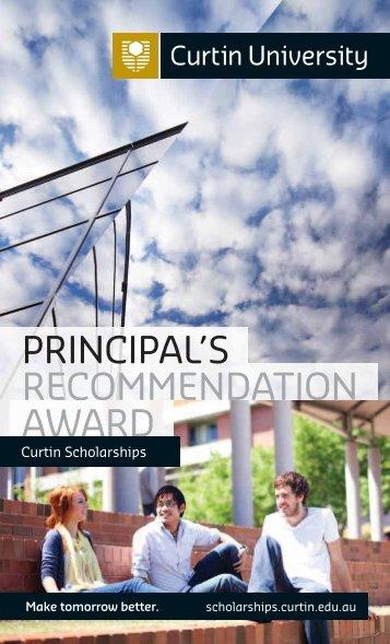 principal's recommendation award - Churchlands Senior High School