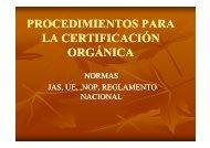 Procedimientos Para La Certificación Orgánica y Normas - Pymerural
