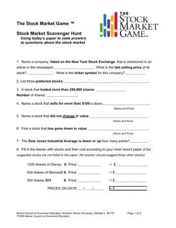 Reference table scavenger hunt stock market scavenger hunt urtaz Images
