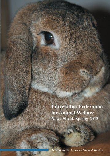 2012 News-Sheet - Universities Federation for Animal Welfare