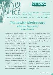 Nitzavim Vayelech - Federation Of Synagogues