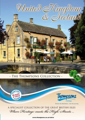 Where Heritage meets the High Streets ... - Thompsons Tours