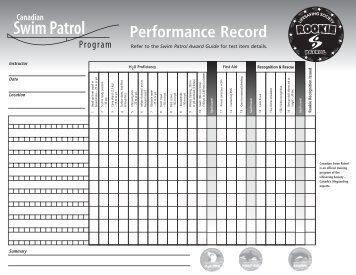 Performance Records - Lifesaving Society