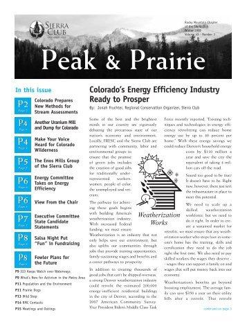 Oct/Nov/Dec 2009 (pdf) - Sierra Club Rocky Mountain Chapter