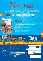 Dossier – Nagez Forme Santé - Fédération Française de Natation