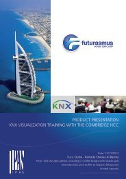 product presentation knx visualization training with the combridge hcc
