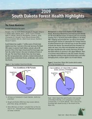 South Dakota Forest Health Highlights 2009 - Forest Health Monitoring