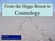 From the Higgs Boson to - Centre for Theoretical Cosmology
