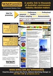 Advertising - WME magazine