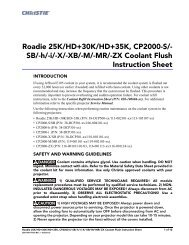Christie Serie I Coolant Flush Instruction Sheet - Christie Digital ...
